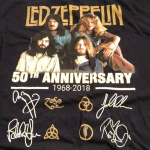 Led Zeppelin 50th Anniversary Band Tee Shirt